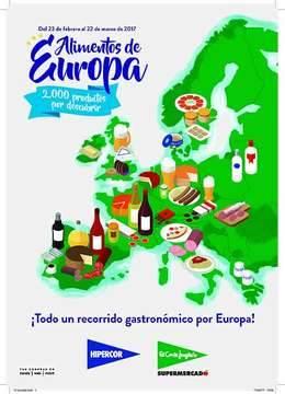El Corte Inglés e Hipercor celebran con 2.000 productos la Feria de Alimentos de Europa