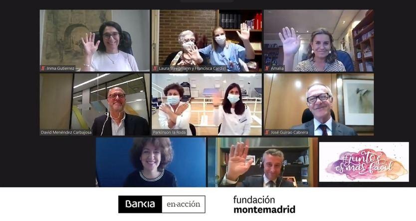 Imagen del encuentro virtual de reconocimiento a las asociaciones seleccionadas
