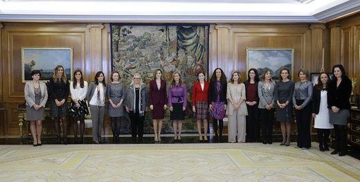 S.M. la Reina D.a Letizia recibe a la Asociación Española de Ejecutivas y Consejeras