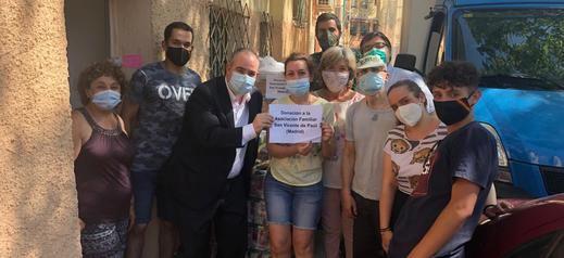 Mercadona dona a la Asociación Familiar San Vicente de Paúl 2,5 toneladas de alimentos de primera necesidad