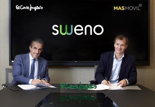 El Corte Inglés y MásMóvil lanzan un operador virtual de móvil y fibra bajo la marca Sweno