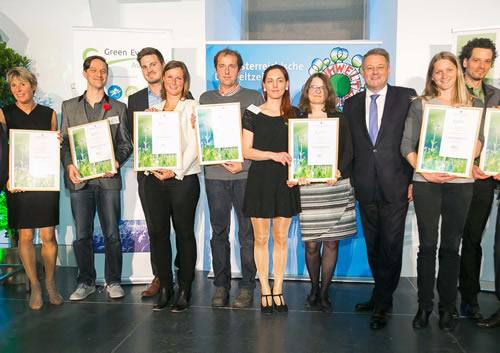 Greenfinity y el Golf Open Event Gmbh galardonados nuevamente en la Green Events Austria Gala celebrada en Viena