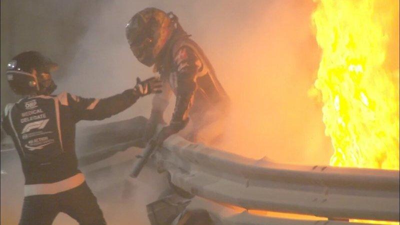 Un milagro evita la muerte del piloto de F1 Grosjean, que sale indemne del infierno