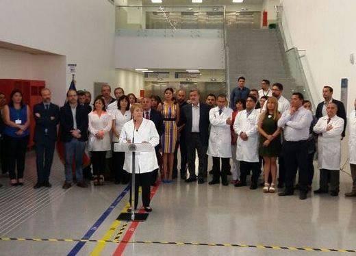 La presidenta de Chile inaugura el Hospital de Antofagasta, que Sacyr gestionará durante 15 años