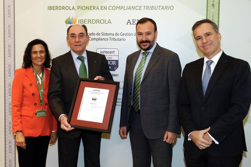 Iberdrola, pionera en la obtención del certificado de AENOR a su Sistema de Gestión de 'Compliance' Tributario