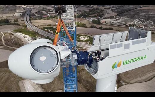 Instalación del primer aerogenerador terrestre más potente de España I - Burgos Castilla y León