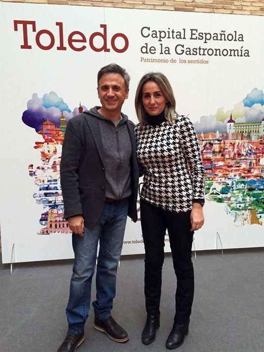 José Mota apoya la Capitalidad Gastronómica de Toledo durante el rodaje en la ciudad de su especial Nochevieja