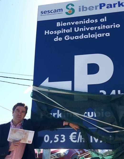 El PP denuncia el alto coste del nuevo aparcamiento del Hospital Universitario de Guadalajara