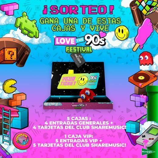 El Corte Inglés patrocina Love the 90's y Love the Tuenti's, dos de los grandes festivales musicales del año
