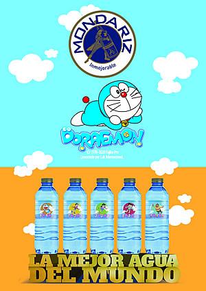 Aguas de Mondariz se viste con la imagen de Doraemon, la mítica serie de dibujos animados