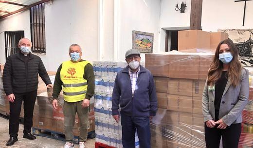 Mercadona dona a Cáritas de Villaviciosa de Odón más de 3.000 kg de productos de primera necesidad