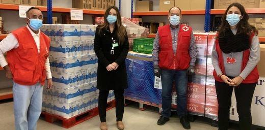Mercadona dona más de 6,5 toneladas de alimentos de primera necesidad a Cruz Roja de Leganés