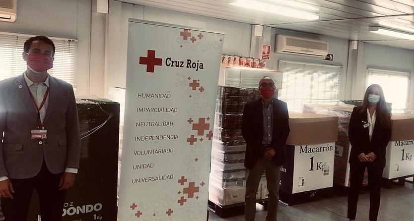 Entrega realizada a Cruz Roja Móstoles
