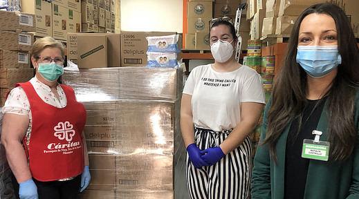 Mercadona dona a Cáritas de Móstoles y Torrejón de la Calzada más de 4.400 kilos de productos de primera necesidad