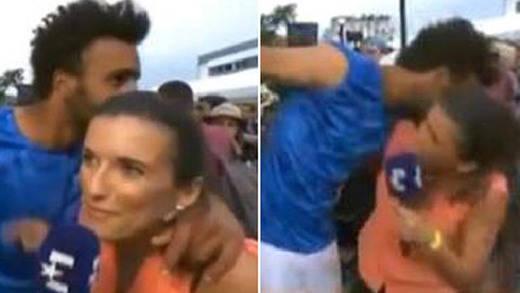 Un tenista acosa a una periodista en directo y termina expulsado de Roland Garros (vídeo)