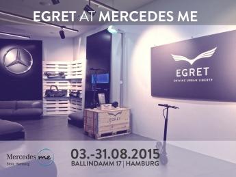 El patinete eléctrico Egret One, compañero de Mercedes Benz