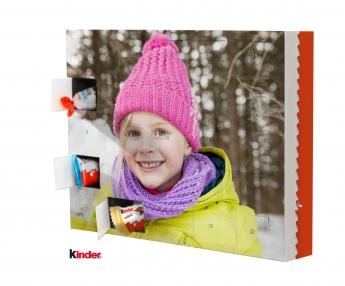 Calendario de Adviento con foto y trufas Ferrero® o chocolate Kinder®