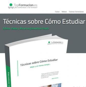 TopFormacion.es presenta su eBook gratuito: 'Técnicas sobre cómo estudiar'