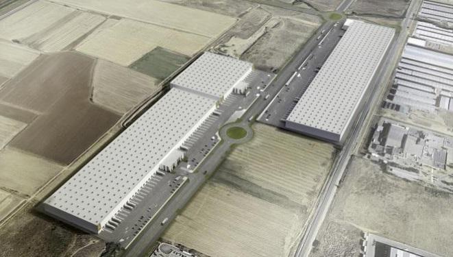 Imagen aérea de la futura plataforma logística