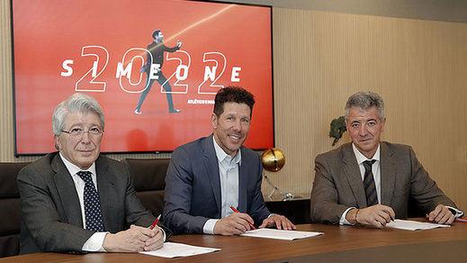 El Atlético se encomienda al 'cholismo' hasta 2022