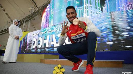 Orlando Ortega consigue la medalla de bronce tras la reclamación en el Mundial de Atletismo de Doha