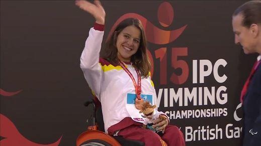 Ejemplares deportistas paralímpicos: tres nuevas medallas, y van seis, en los Campeonatos del Mundo