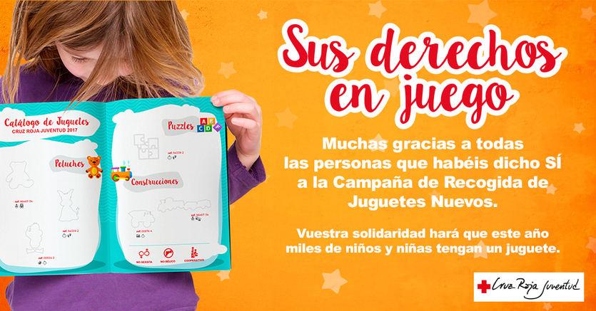 Cruz Roja Juventud reparte 127.000 juguetes para más de 61.000 niños, niñas y adolescentes en dificultad social