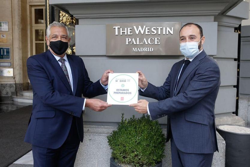 El Westin Palace, primer hotel 5 estrellas en obtener su distintivo 'Garantía Madrid'