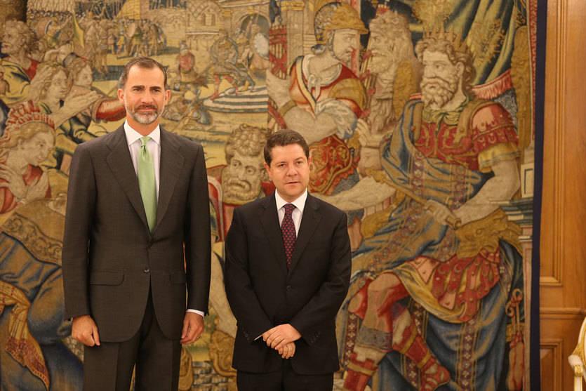 El presidente de Castilla-La Mancha recibido en Zarzuela