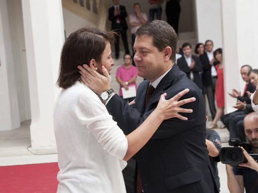 Reyes Estévez junto a García-Page en Fuensalida