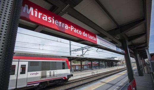La estación de Cercanías de Mirasierra-Paco de Lucía supera el millón de viajeros en su primer año en servicio
