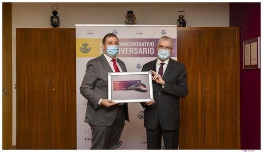 Correos emite un sello conmemorativo del 80 aniversario de Renfe