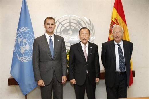 El Rey pide en la ONU actuar como