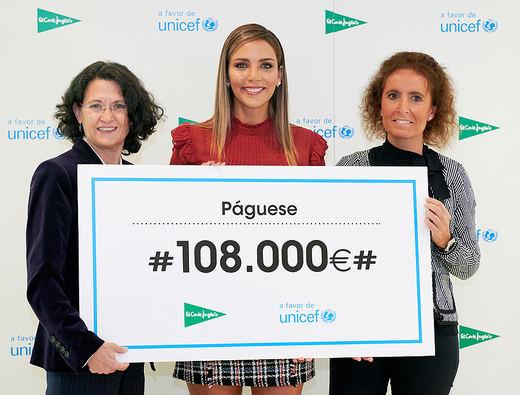 El Corte Inglés entrega 108.000 euros a UNICEF para ayudar a los niños más desfavorecidos