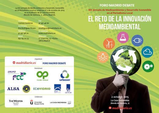 Madrid, ante el reto de la innovación medioambiental: XIII Jornada de Medio Ambiente de Madridiario