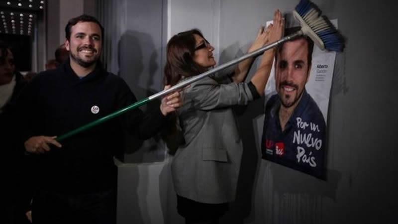 Garzón se adjudica la única candidatura de izquierda al incluir a Podemos en el 'centro superpoblado' de los demás candidatos