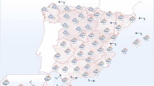 El tiempo para hoy: lluvias intensas y fuertes vientos en casi todo el país