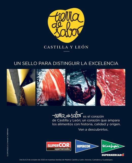 El Corte Inglés promueve los productos 'Tierra de Sabor' en colaboración con la Junta de Castilla y León