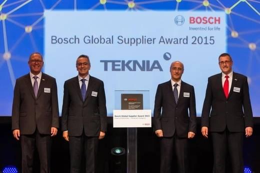 """TEKNIA Group, única española entre los galardonados con el """"Bosch Global Supplier Award"""""""
