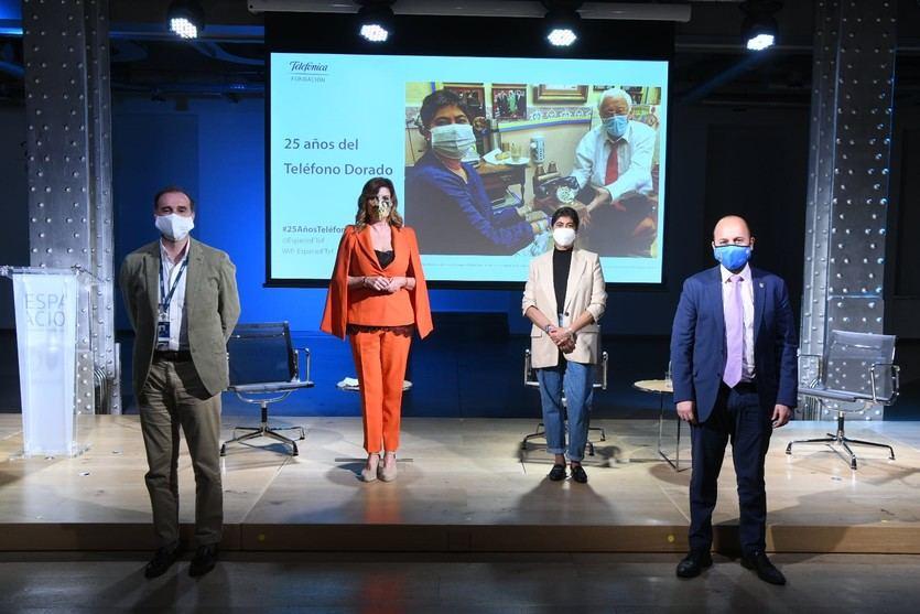 Fundación Telefónica conmemora los 25 años del 'Teléfono Dorado' de Mensajeros de la Paz