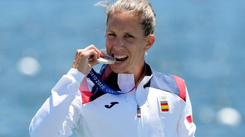 Otra medalla en piragüismo: Teresa Portela gana la plata en K1 200