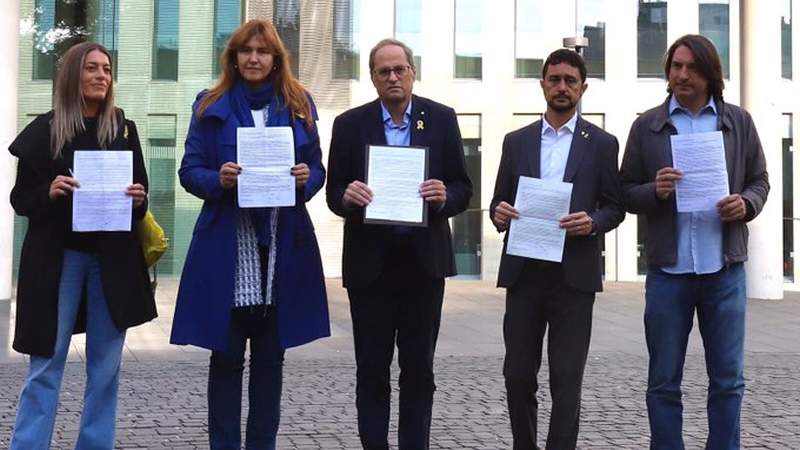 Torra se autoinculpa también por haber participado en el referéndum de 2017