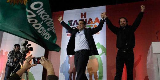 Pablo Iglesias arropa a Tsipras:
