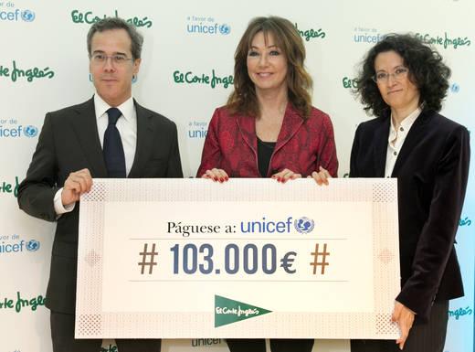 El Corte Inglés dona 103.000 euros a UNICEF para mejorar las condiciones de vida de los más pequeños