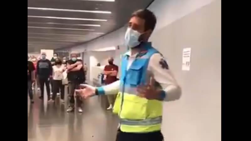 Momento del video del enfermero Jorge Prieto
