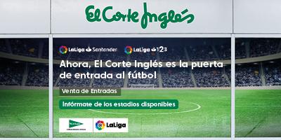 Venta de entradas de fútbol en El Corte Inglés