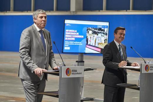 José Vicente de los Mozos, presidente del Comité Ejecutivo de IFEMA y Eduardo López-Puertas, Director General de IFEMA