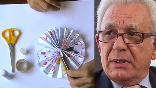 La solución del Gobierno madrileño para los mareos y el calor en los colegios: abanicos de papel