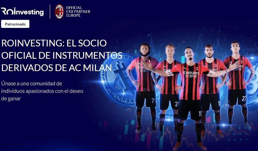 Roi investing patrocinará al AC Milán