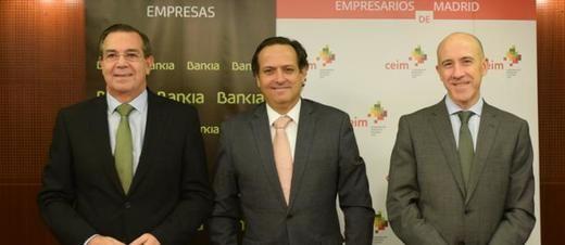 Bankia y CEIM firman un convenio para impulsar la competitividad de las empresas
